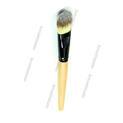 5pcs/lot Bamboo Handle Smooth Fiber Hair Makeup Wet Powder Foundation Brush Tool