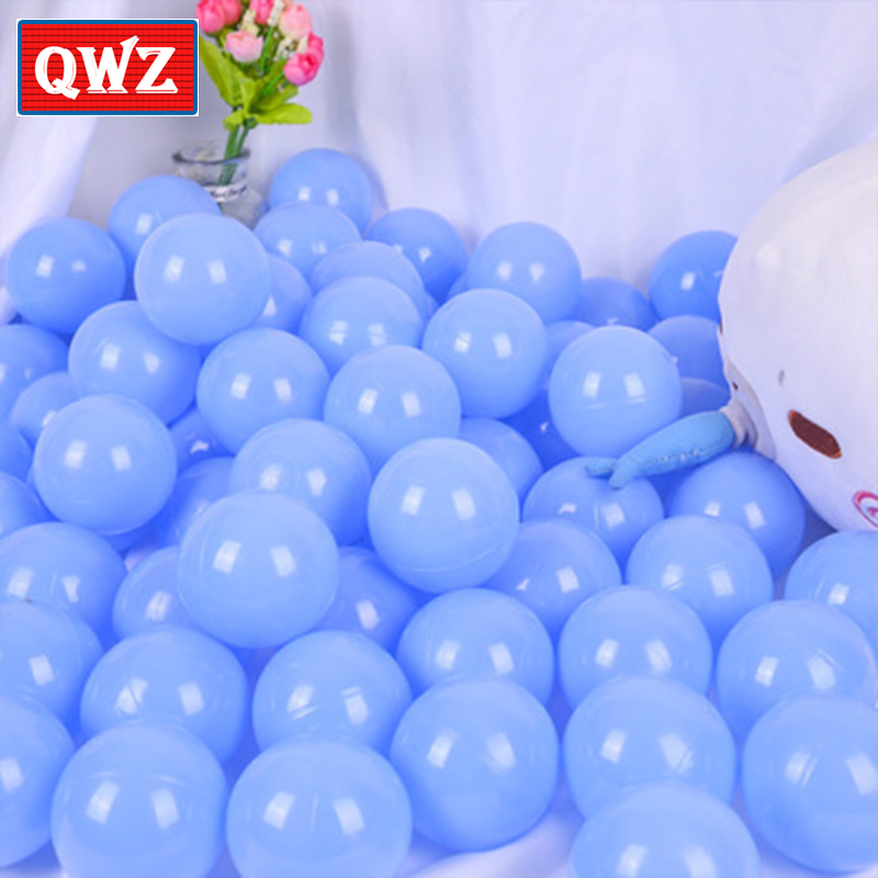QWZ Kids Blue Ocean Ball Baby Environmental ProtectionPlastic Balls ChildrenBirthdayParties PlaygroundGames Toys Child Pool Toy