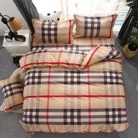 Luxury Lattice Bedding Sets 3/4pcs Geometric Pattern Bed Linings Duvet Cover Bed Sheet Pillowcases Cover Set