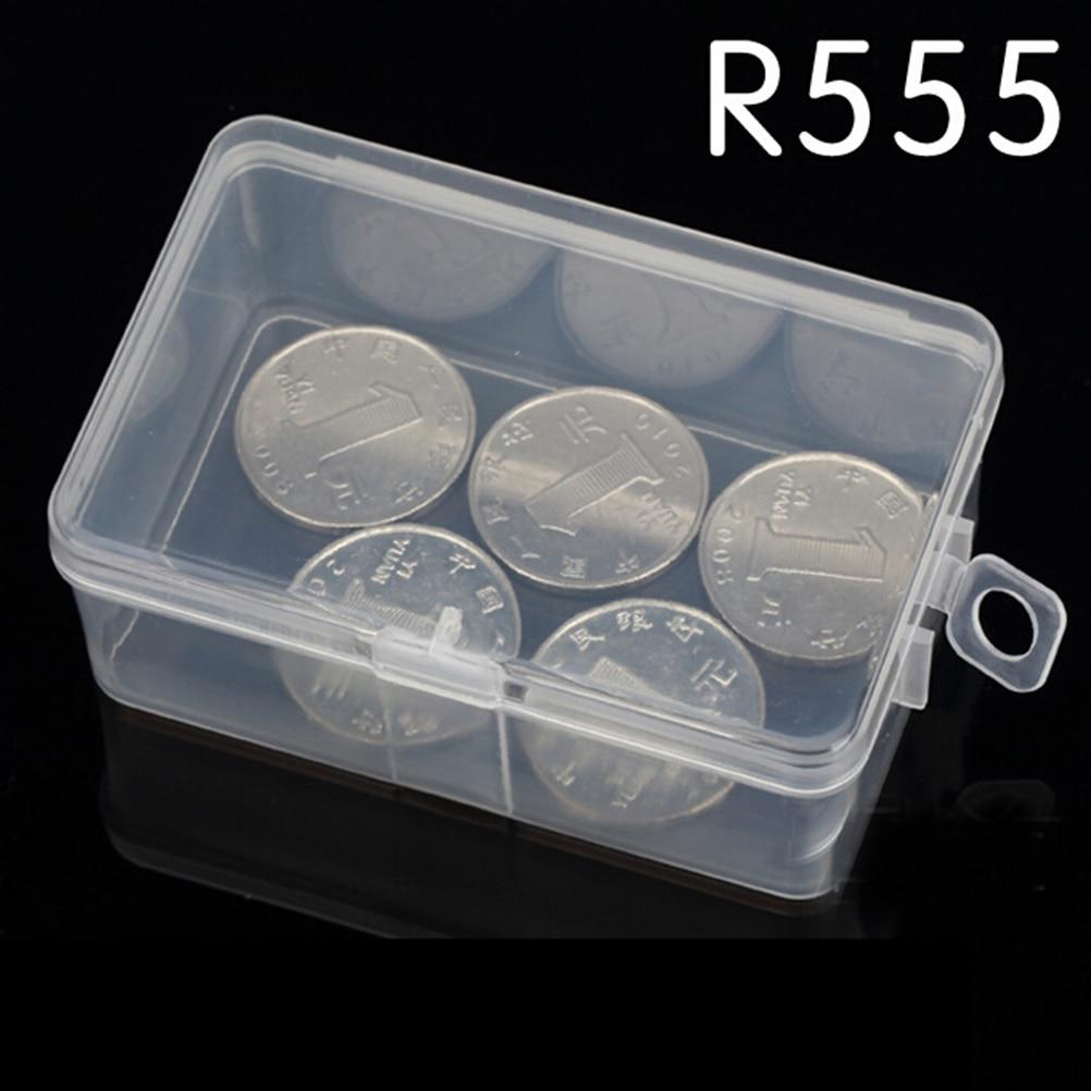 Praktische Hause Lagerung R555 Rechteckige Kleine Box Kunststoff Klar Kunststoff Transparent Verpackung Box Verpackung Box Mit Abdeckung Haken