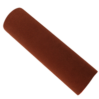 Suede Fabric Film Coffee Colors with Strong Self adhesive Free Air Type Technical DIY Sticker