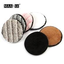6 цветов мягкий байковый спонж двухсторонний спонж для снятия макияжа женский дамский косметический инструмент для мытья лица