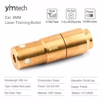 9mm Laser Training Bullet, Laser Bullet, Laser Cartridge for Dry Fire Training and Shooting Simulation