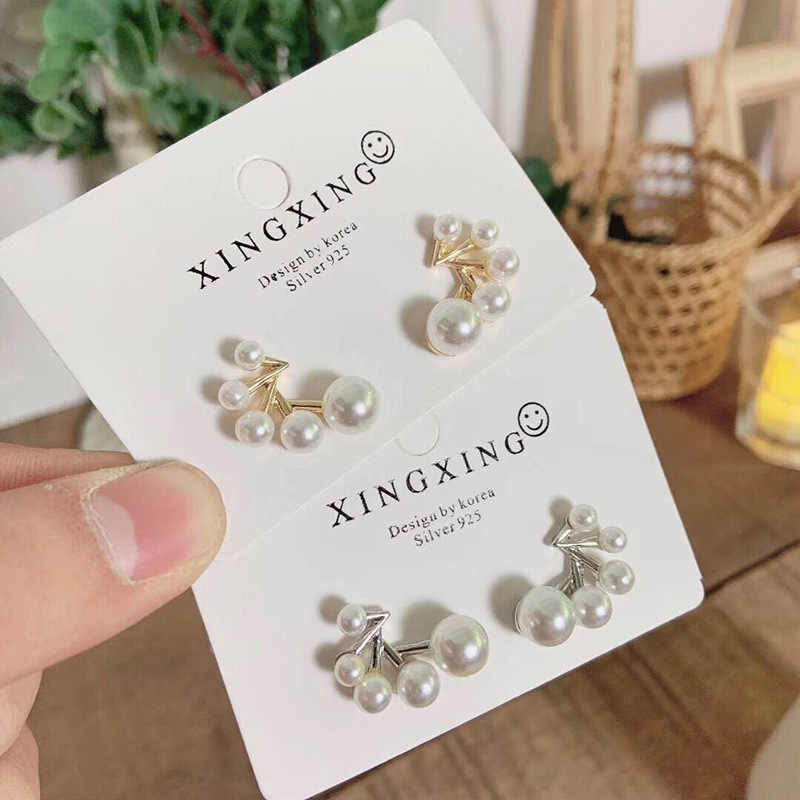 2019 New Arrival Geometric Simulated-pearl Women Trendy Stud Earrings Simple Pearl Earrings New Fashion Jewelry