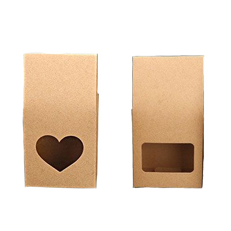 50Pcs Kraft Paper Bags Stand Up Pouch Bags Food Storage Bags with Heart Window for Tea Nut and Dried Food50Pcs Kraft Paper Bags Stand Up Pouch Bags Food Storage Bags with Heart Window for Tea Nut and Dried Food