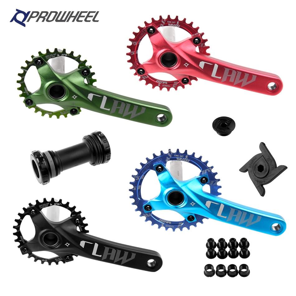 Prowheel 104 BCD Mtb Bicycle Crank Set 170/175mm 30/32/34/36/38T Round Sprocket With Bottom Bracket BB Mountain Bike Crankset