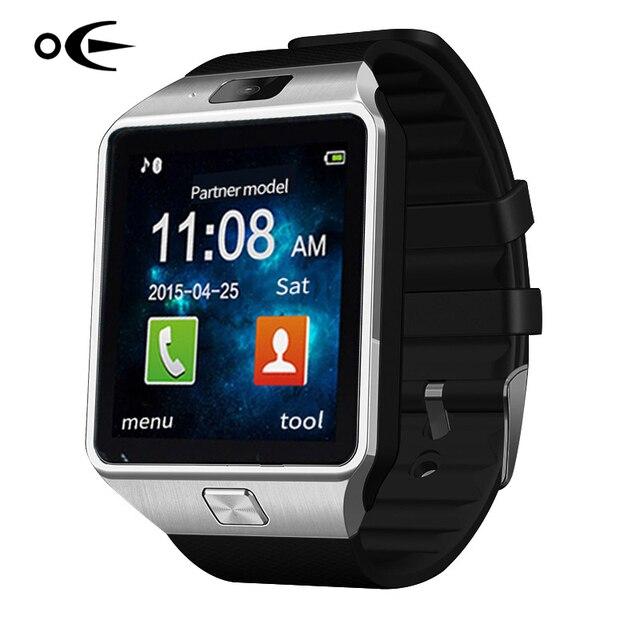 Бренд СВЕТОДИОДНЫЕ Электронные интеллектуальные Наручные Часы Водонепроницаемые Спортивные Золото Smart Watch DZ09 Шагомер Для iPhone Android Наручные Часы Мужчины