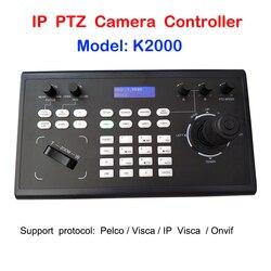 Profesional PelcoD Visca Onvif 3D Joystick IP controlador de teclado PTZ RS485 RS232 por Video conferencia cámara PTZ