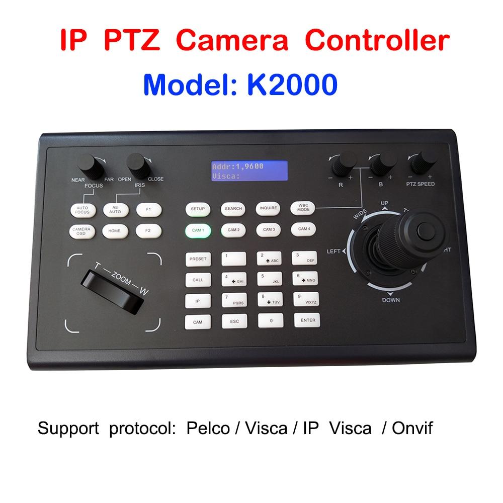 Profissional controlador rs485 rs232 do teclado do ip ptz do joystick de pelcod visca onvif 3d para a câmera de vídeo da conferência ptz