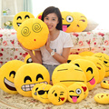 2016 Hot Sale 24 Styles Soft Emoji Smiley Emoticon Yellow Round Cushion Pillow Sofa Stuffed Plush Toy Doll Free Shipping