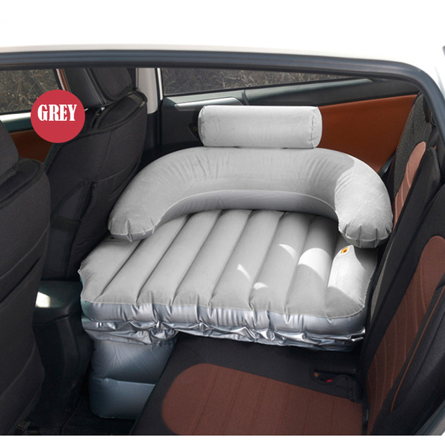 Inflatable Mattress SUV Travel Camping Car Back Seat Sleeping Rest With Air Pump Sex