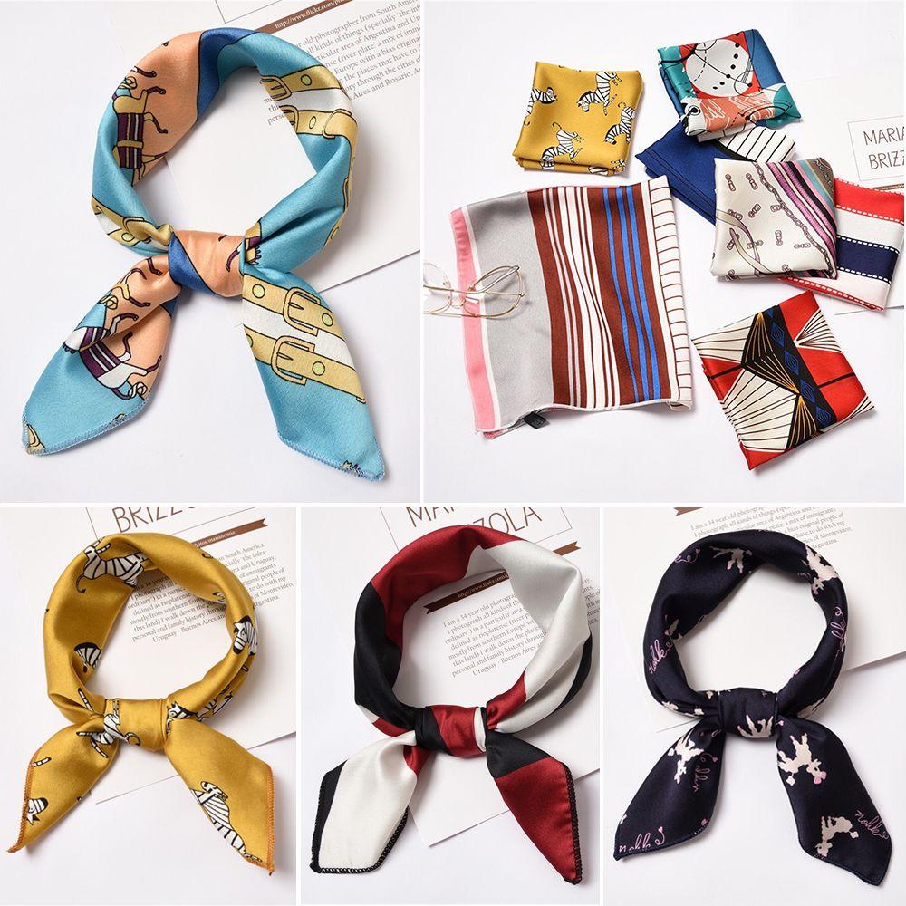 Square Scarf Cute Cartoon Unicorn Muffler Unisex Headband Tie For Men