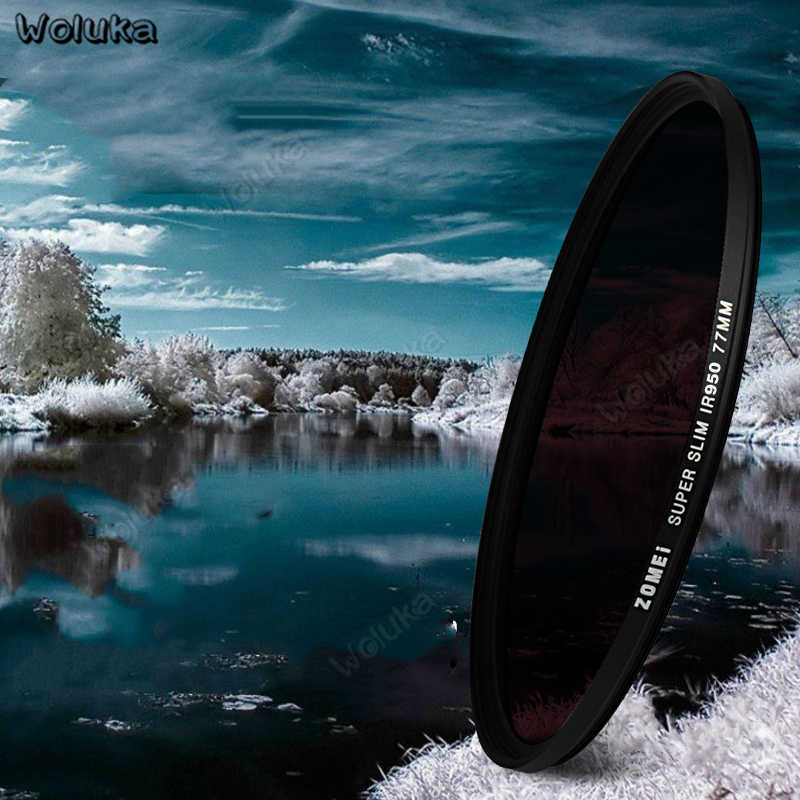 IR フィルターケース 58 ミリメートル赤外線フィルター写真カメラフィルターセット Filtre レンズ 680 720 760 850 950 一眼レフアクセサリー softlens CD50 T10