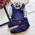 Fashion New Spring&Autumn Baby Boy Clothing Set Blouse+Pant Tracksuit set Kids Clothes Children Boy Gentleman suit sport set