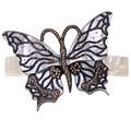 Big butterfly hair barrette clip for women girls austrian crystal jewelry wedding accessories HB18 wholesale dropship
