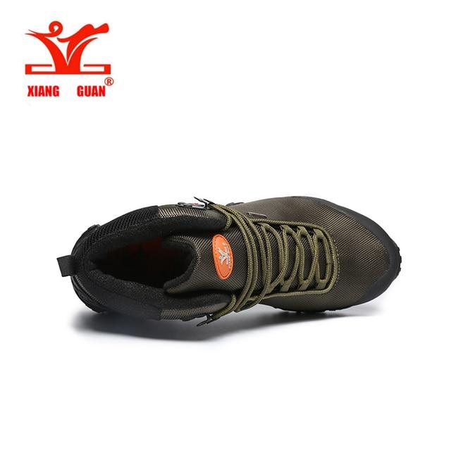 2017 men's Waterproof hiking boots XiangGUAN 82283 high top outdoor Athletic terrking shoes women's camping sports Sneakers