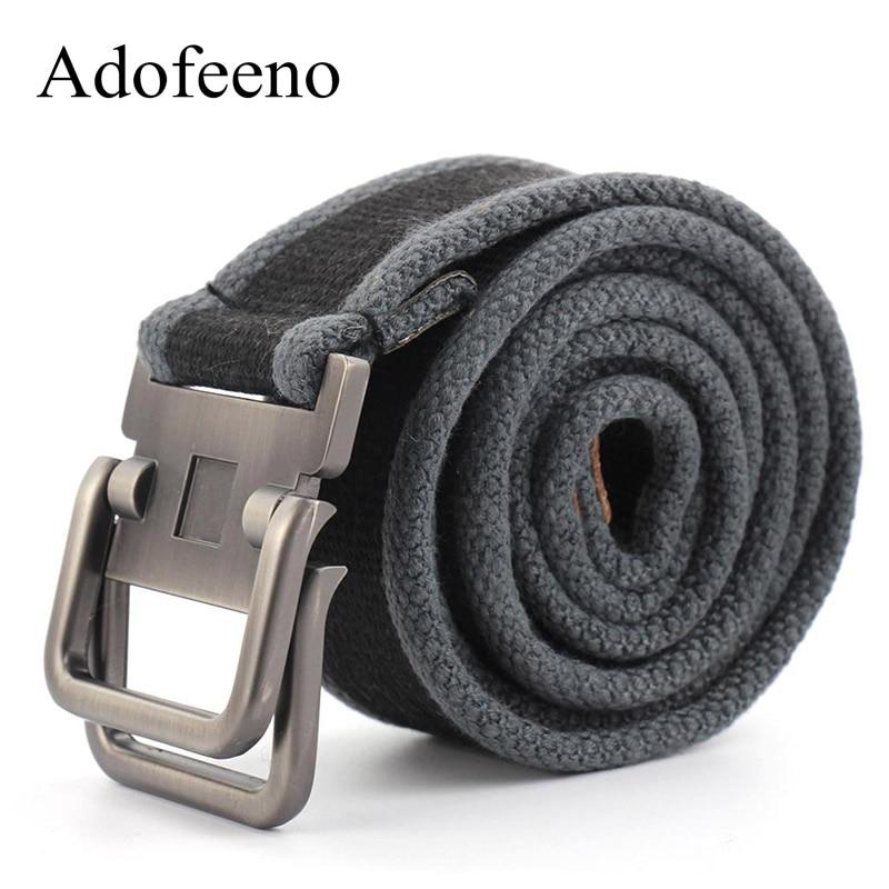 Special Section Best Ybt Unisex Canvas Belt Men Army Tactical Belts Selling Man Outdoor Sport Double Buckle Weave Canvas Cowboy Pants Belt Apparel Accessories