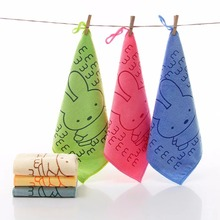 Summitkids 25X25CM Baby Hand Towel Microfiber Washcloth Quick Dry Soft Absorbent Face Towel Square Size Five Colors 25 25cm cute baby towel face microfiber absorbent drying bath beach towel washcloth swimwear baby towel cotton kids towel