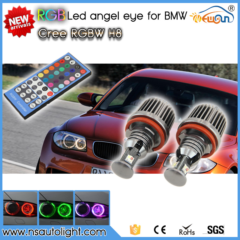72W IR control RGB H8 LED Angel Eyes Color Change LED marker bulb halo ring for BMW E82 E90 E92 E93 E70 E71 E60 E61 E63 E64 F01