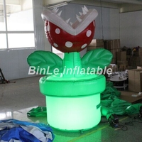 Customized oxford durable nice giant inflatable flower plants stage ground decoration