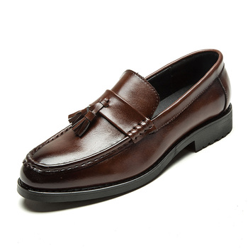 2019 Men Dress Shoes Handmade Brogue Style Paty Leather Wedding Shoes Men Flats Leather Oxfords Formal Shoes 1