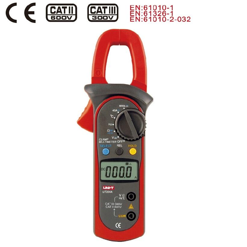 Digital Clamp Meter UNI-T UT204A pinza de corriente AC/DC probador de resistencia de condensador de voltaje Amper voltímetro