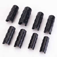 Tewango 50pcs-Pack Greenhouse Frame Pipe Tube Clip Film Net Shade Sails Clamp 20mm/22mm/25mm/32mm Garden Tools