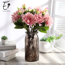 Erxiaobao Chinese Herbaceous Peony Artificial Flowers Bouquet Red White Yellow Pink Fake Flower DIY Wedding Home Decor Gift