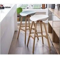 Минималистский современный дизайн твердой древесины pp пластиковый барный стул Северный ветер модные креативные Дания барный стул популяр