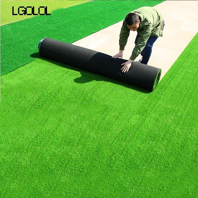 2*0.5 M Micro paysage gazon artificiel tapis réel toucher faux moussu fleur artificielle fleur famille feuille LGOLOL décoration
