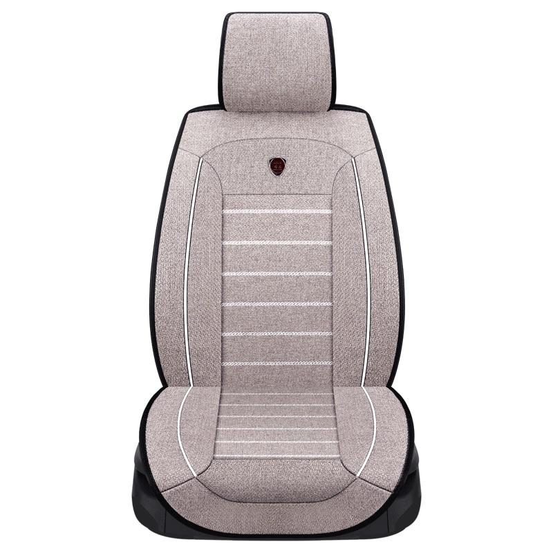 New high quality flax Car Seat Covers Universal Auto Comfortable for lada Granta Kalina Priora Vesta XRAY 2017 2016 Car styling flax car seat cover for lada granta lada vesta priora kalian largus xray niva auto accessories