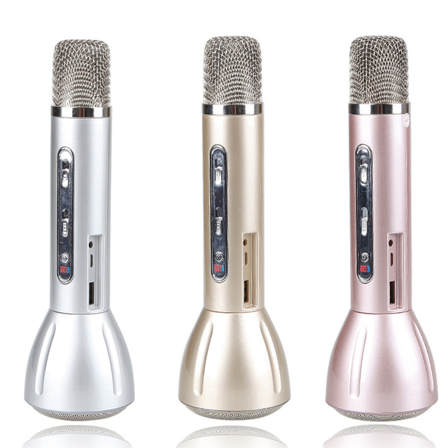 K138 Magic Karaoke Microfone K Song Portable Wireless Bluetooth Microphone With Bluetooth Speaker Power Bank Outdoor KTV DVR8711