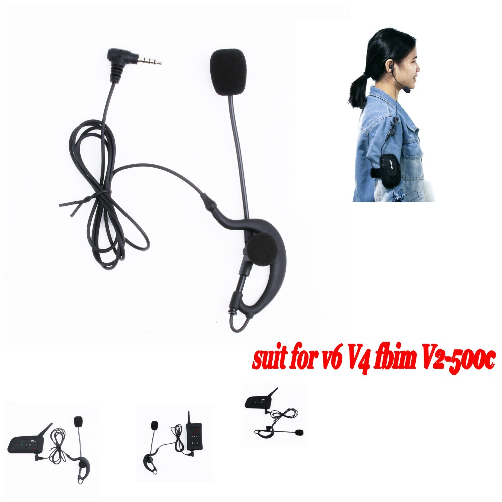 Vnetphone Football Soccer Referee Headset Monaural Headset Earhook Earphone for V6 V4 V5 Intercom Football Referee Arbitration
