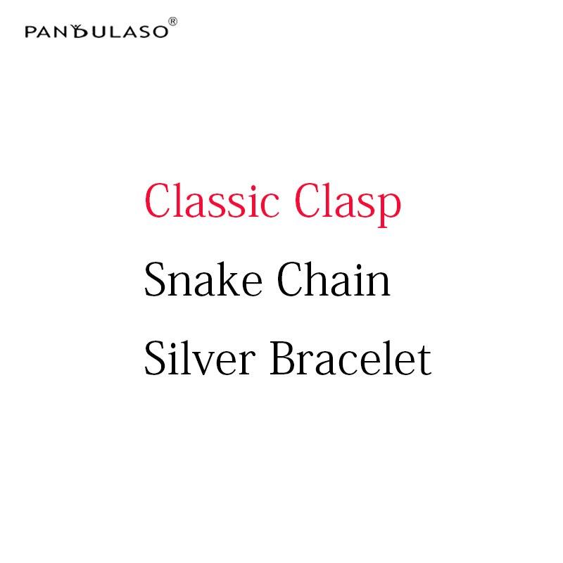 Pandulaso DIY Starter Silver Bracelets Original Silver 925 Charms Bracelets Snake Chain for Women Sterling Silver Jewelry