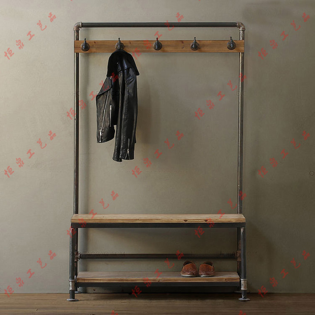 Free Standing Towel Rack Wood