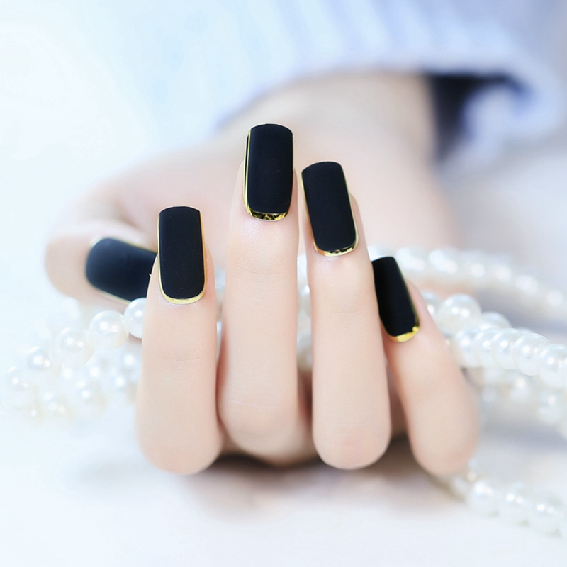 Black And Gold Press On Nails | Best Nail Designs 2018