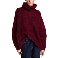 High Collar Sweater 2018 Winter Oversized Sweater Women Multicolor Woolen Female Pullover Sweaters Loose Casual Tops Pull Femme