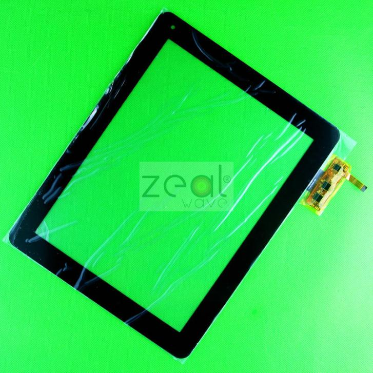 2 Pcs Black 9.7 DigitizerTouchscreen Panel For  NewTablet CT097GG009-00 TRUST 3008-0037 FPCA09700900-000