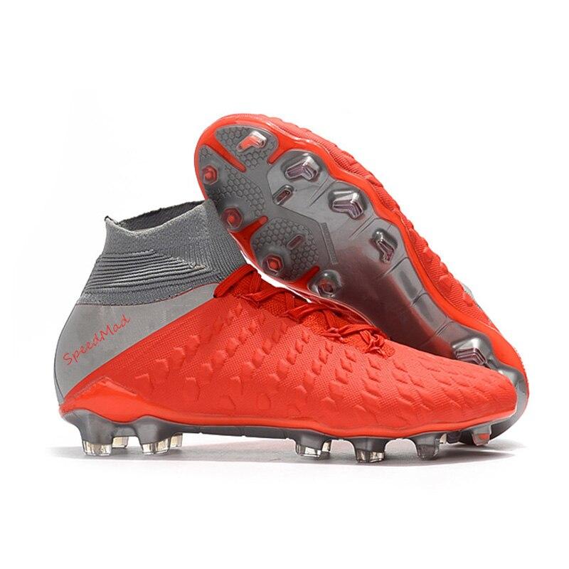 77c18810f SpeedMad Soccer Shoes Men Football Cleats Original Hypervenom Phantom III  DF FG Football Boots botines de
