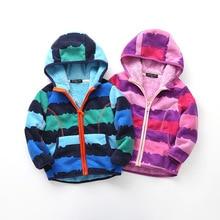 Warm Thicken Baby Girls Boys Polar Fleece Jackets Windproof Child Coat Print Winter Children Outerwear For 90-130cm цены