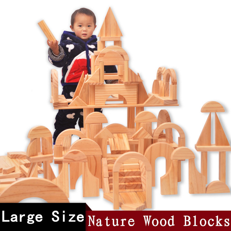 New Arrived Baby Toys 120Piece Super Large Size Building Blocks Nature Colour Geometric Blocks Child Educational Gift new arrived mimco supernatural zip wallet colour honey