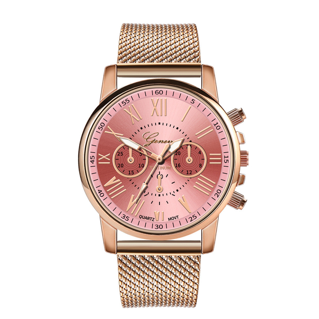 Роскошные Кварцевые часы для женщин и мужчин влюбленные пара Женские наручные часы Миланская нержавеющая сталь циферблат новое поступление - Цвет: F