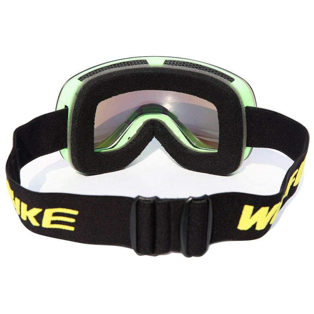 WOLFBIKE Лыжные Очки Двойные Слои Линзы противотуманные Сферические Лыжные Маски Очки УФ-Защитой Мужчины Женщины Снег Сноуборд Очки
