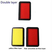 1x Double layer Car Air Filter Auto High Flow Air Filter Super Hybrid Air Filters for TOYOTA CAMRY HYBRID 2.4L 2007 2011