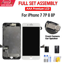 Conjunto completo display lcd para iphone 7 8 plus tela lcd completa assembléia substituição para iphone 7 p 8 p 5S toque digitador da tela lcd