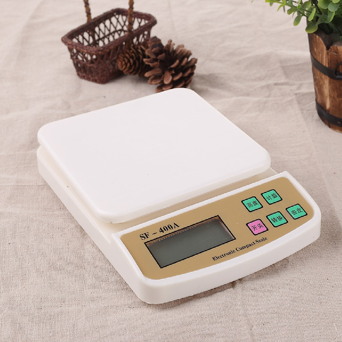 Kitchen Foods Scale Digital Electronic Scales Pocket 10Kg/1g Kitchen Weighing Scale LCD Display Backlight Scales