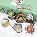 One Piece Keychain DIY Acrylic Car Key Chain Key Accessories Cute Cartoon Collection Luffy Law Action Figure HZW020 LTX1