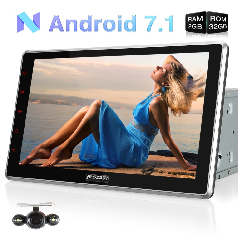 10 Capacitive Screen Car Multimedia Player 2 Din Android 7.1 Universal Car Radio No DVD Player GPS Car Stereo Audio With Camera цена
