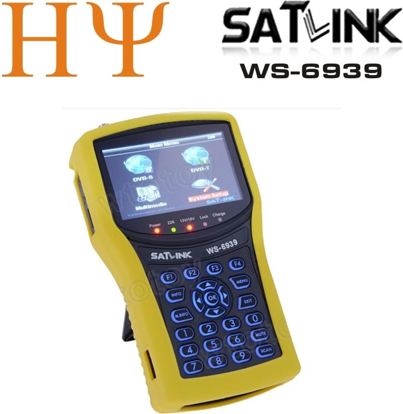 [Genuine] Satlink WS-6939 DVB-S&T Combo Meter Satlink 6939 ws6939 meter 6939 finder satellite finder meter free shipping [genuine] satlink ws 6939 dvb s