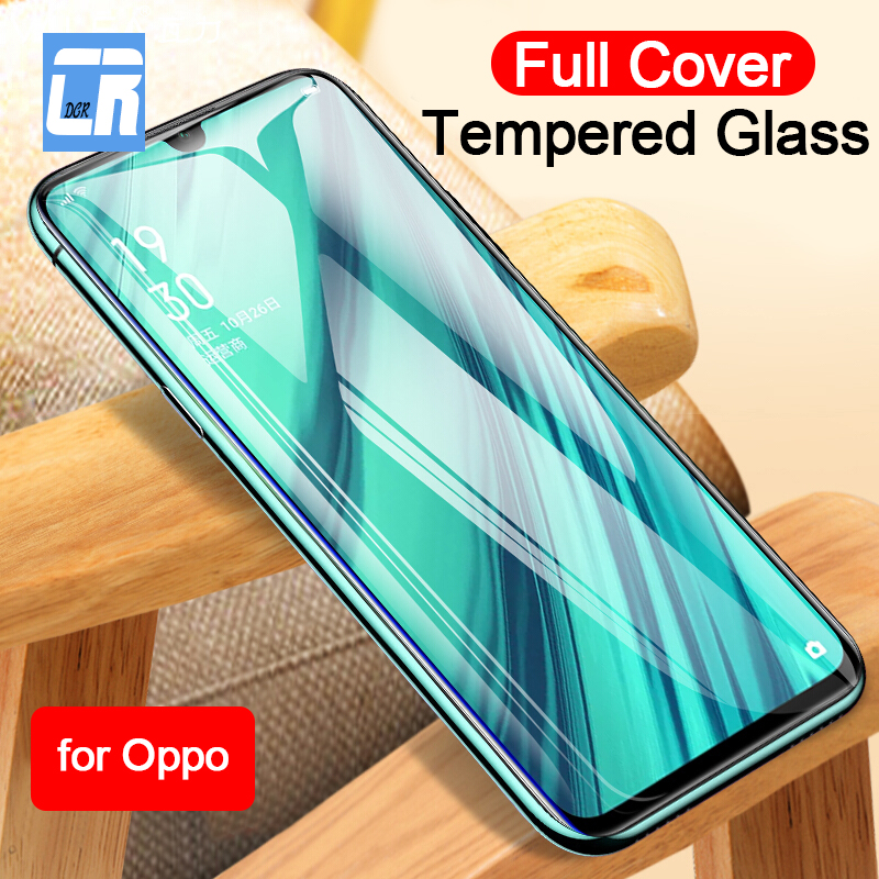 Full Cover Tempered Glass For OPPO Realme X Lite Reno Z Screen Protector For OPPO K3 A1K A3 A3S A5 A7 A7X A9X Protective Film